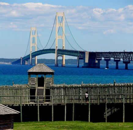 Photo of Colonial Michilimackinac in Mackinaw City, MI. © 2016 Frank Rogala.