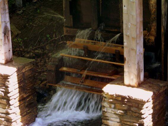 Photo of the sawmill turbine at Historic Mill Creek Discovery Park in Mackinaw City, MI. © 2016 Frank Rogala.