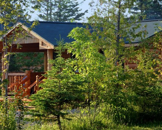 Photo of four-person cabins at Mackinaw Mill Creek Camping in Mackinaw City, MI. © 2016 Frank Rogala.