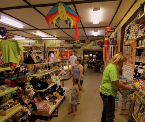 Photo of the inside of the park store at Mackinaw Mill Creek Camping in Mackinaw City, MI. © 2016 Frank Rogala.