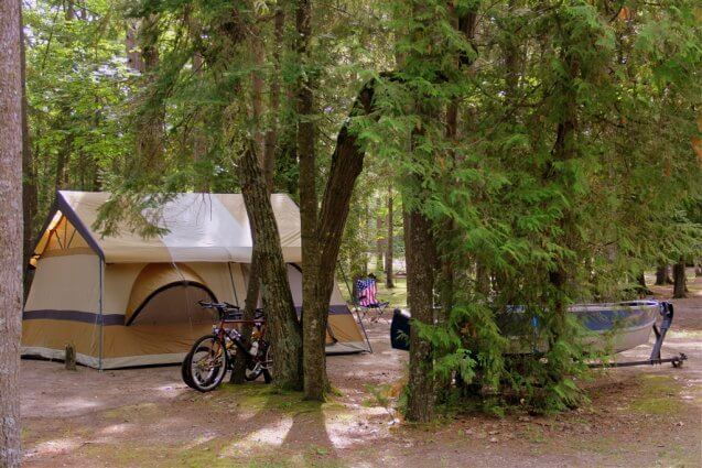 Photo of a supersaver campsite at Mackinaw Mill Creek Camping in Mackinaw City, MI. © 2016 Frank Rogala.