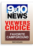 TV 9&10 News - Viewers Choice Award for favorite campground in Northern Michigan. © 2016 Frank Rogala.