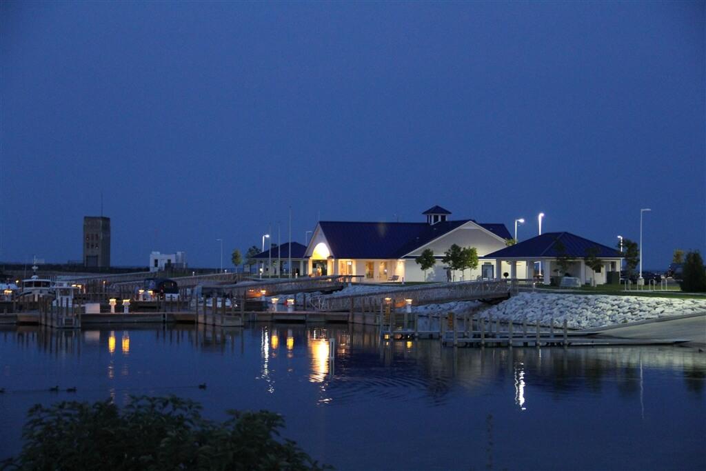 Photo of the Michigan State Marina in Mackinaw City, MI at dusk. © 2016 Frank Rogala.