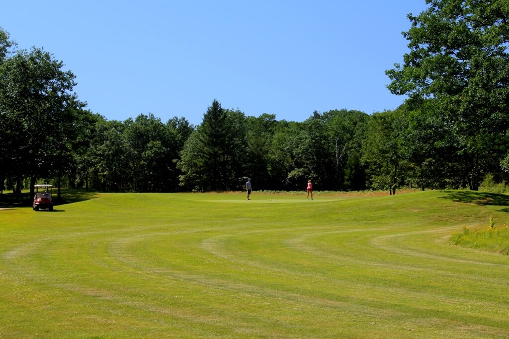 Photo of the turf grass at Mackinaw Club Golf Course in Carp Lake, MI. © 2016 Frank Rogala.