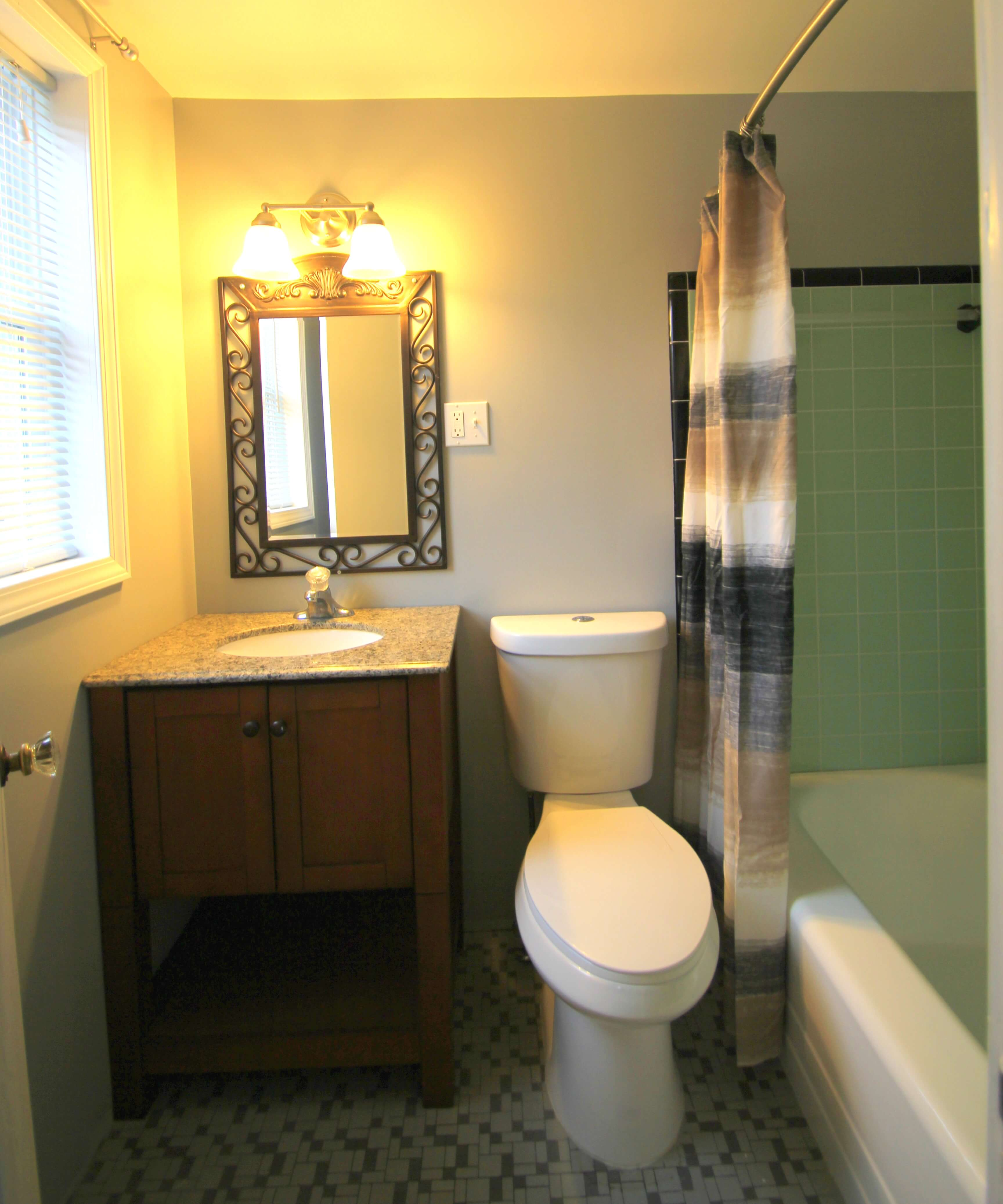 Recently remodeled bathroom inside one our motel rooms. © 2017 Frank Rogala.