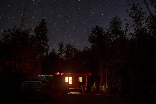 Photo of the night sky in August by R. King at Mackinaw Mill Creek Camping in Mackinaw City, MI.