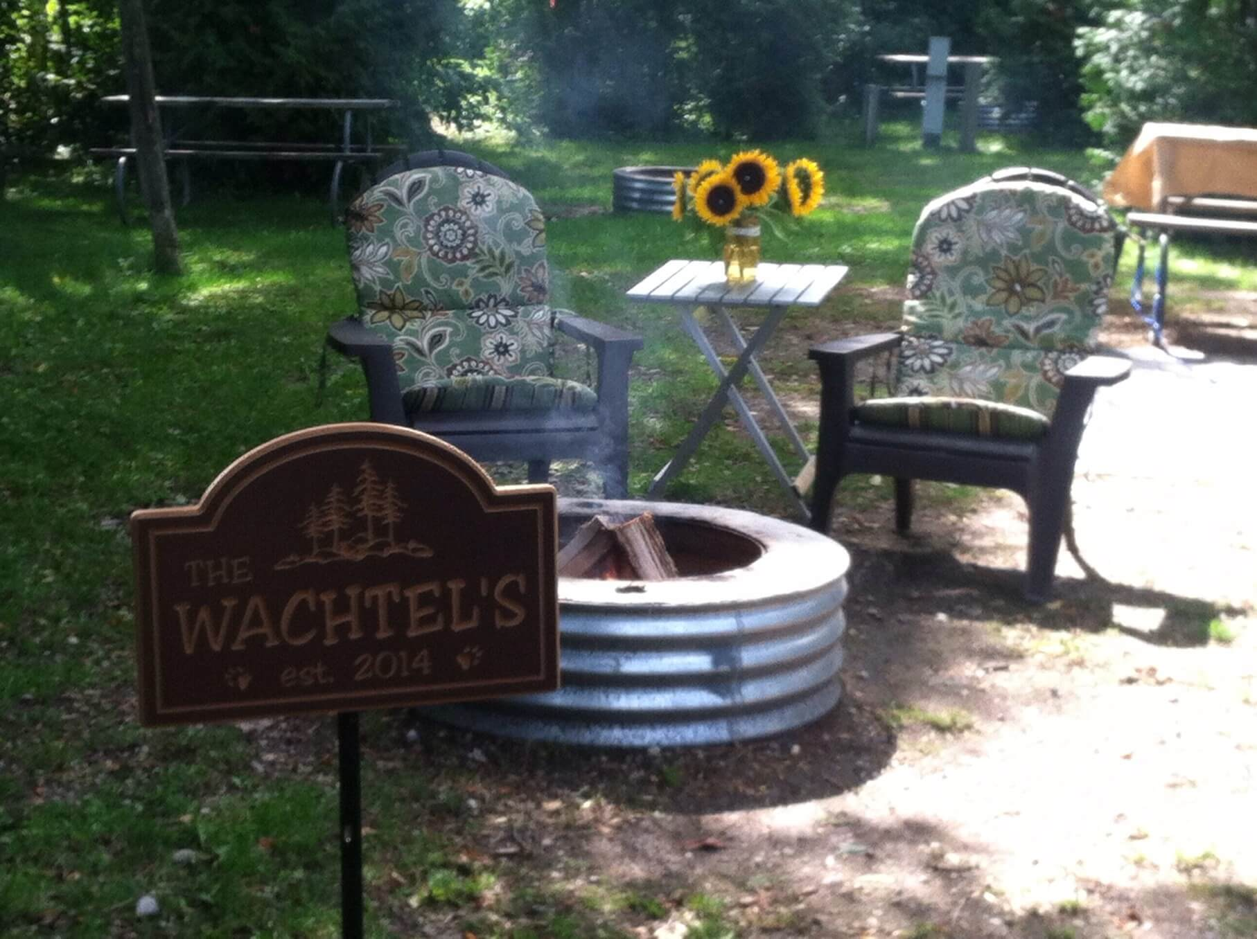Photo of campsite by Scott and Crystal Wachtel at Mackinaw Mill Creek Camping in Mackinaw City, MI.