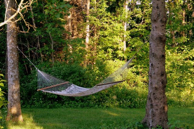 Photo of a hammock at Mackinaw Mill Creek Camping in Mackinaw City, MI. © 2016 Frank Rogala.