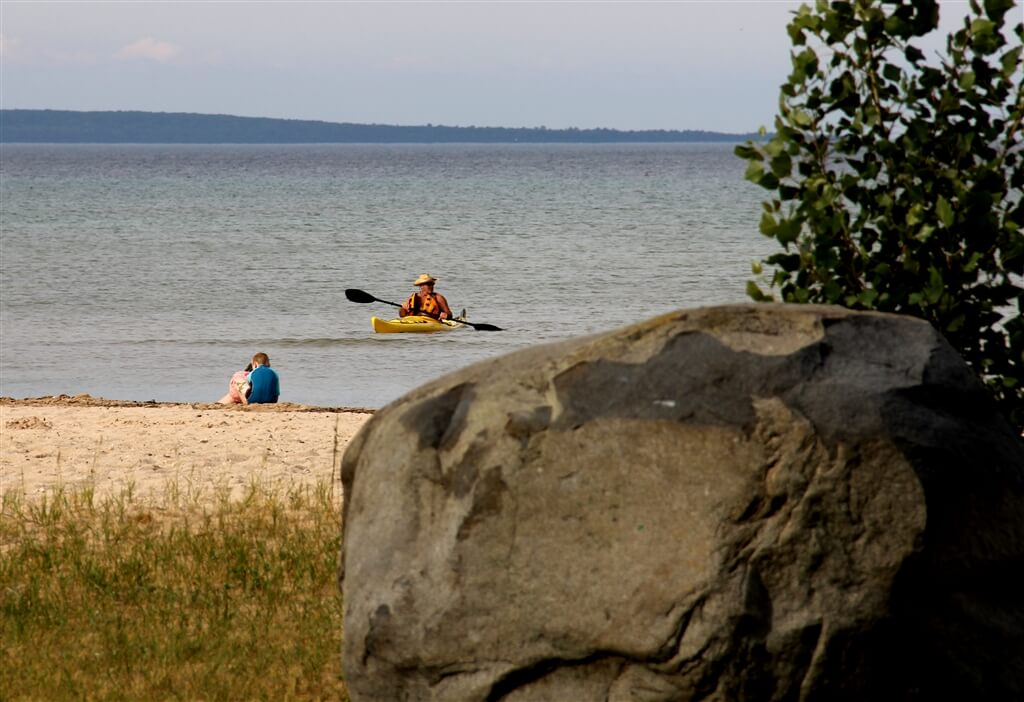 Photo of the natural beach at Mackinaw Mill Creek Camping in Mackinaw City, MI. © 2016 Frank Rogala.