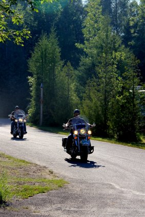 Photo of motorcycles at Mackinaw Mill Creek Camping in Mackinaw City, MI. © 2016 Frank Rogala.