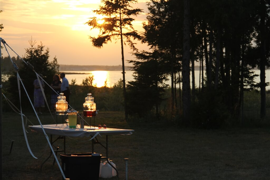 Photo of a sunset after a wedding at Mackinaw Mill Creek Camping in Mackinaw City, MI. © 2016 Frank Rogala.
