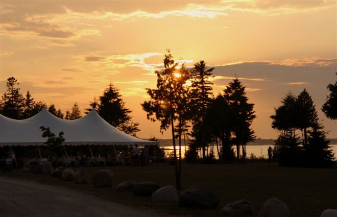 Photo of a sunset on a wedding at Mackinaw Mill Creek Camping in Mackinaw City, MI. © 2016 Frank Rogala.