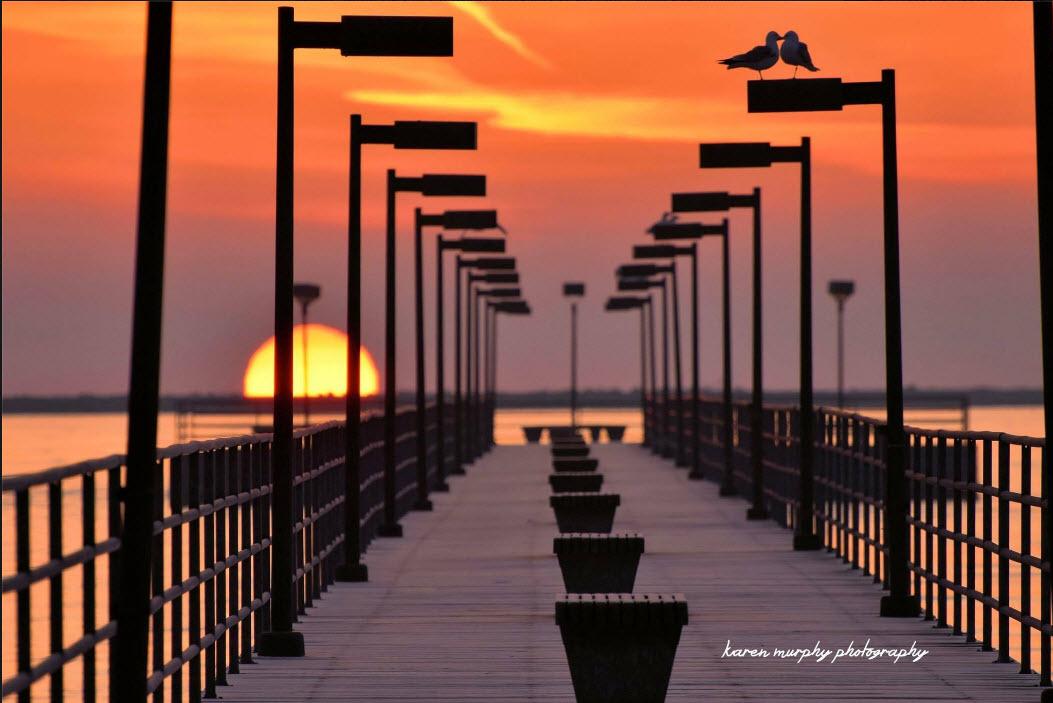 Sunrise on Lake Huron at Harbor Beach by Karen Murphy
