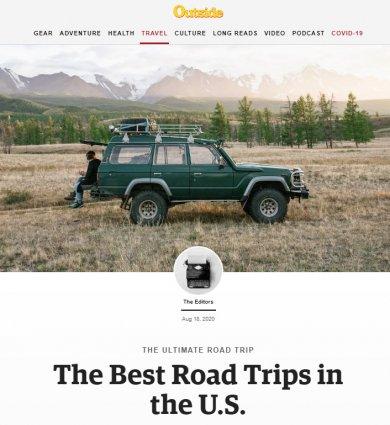 Outside Magazine feat. Mackinaw Mill Creek Camping