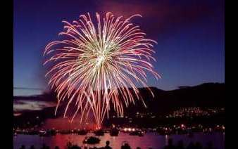 Photo ofr fireworks display for the 4th of July Celebration in Mackinaw City, MI. Image source: mackinawchamber.com.