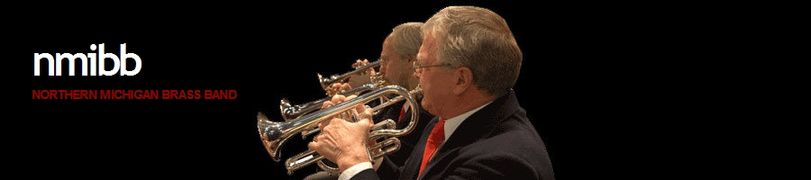 Photo of the Northern Michigan Brass Band, a musical performing group. Image source: northernmichiganbrassband.org.