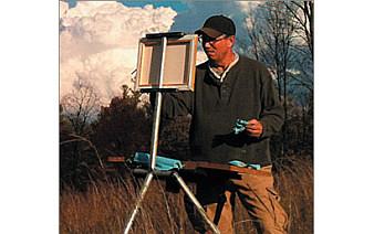 Photo of Plein Air Painting with Richard Jordan. Image source: mackinawcityareaartscouncil.org.