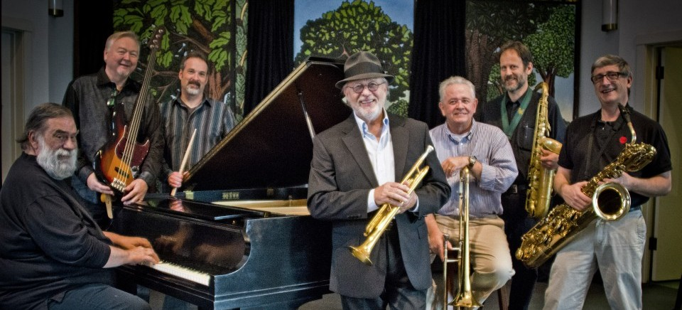 Photo of The Skylarks Jazz Band, a musical performing group. Image source: skylarksjazz.com.