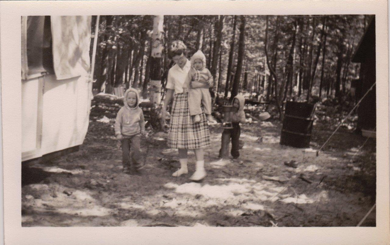 Photo at Mackinaw Campgrounds, circa 1964. The very first guests at Mackinaw Mill Creek Camping in 1964, then known as