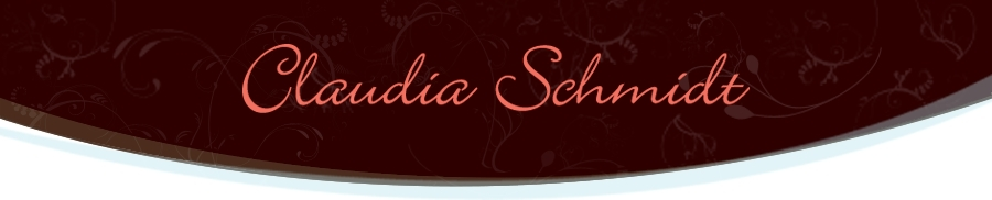 Logo for Claudia Schmidt, a musical performer. Image source: claudiaschmidt.com.