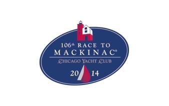 Logo for the Chicago Yacht Club's Race to Mackinac. Image source: cycracetomackinac.com.
