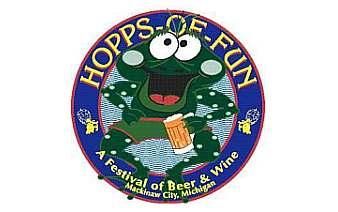Logo for Hopps of Fun event in Mackinaw City, Michigan. Image source: mackinawcity.com.