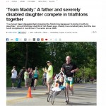 Photo of article in the Daily News about Team Maddy.