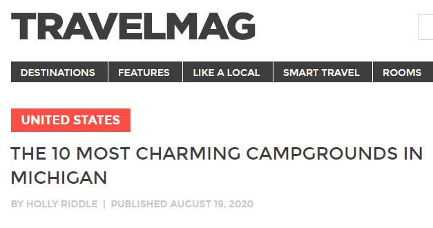 TRAVELMAG feat. Mackinaw Mill Creek Camping